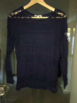 Esprit Crochet Sweater dark blue
