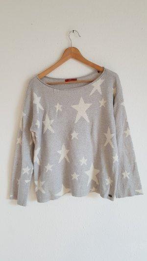 edc Maglione di lana bianco-grigio chiaro