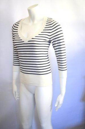 Pullover Streifen Black White XS
