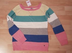 Pullover Streifenmuster tolle Farben - 36/38 - NEU!