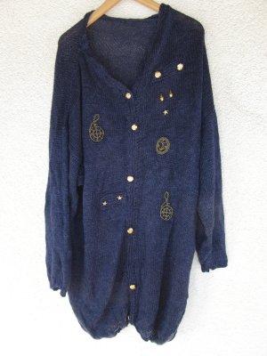 Pullover Strick blau Vintage Retro Oversize