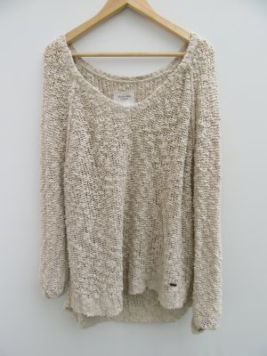 Abercrombie & Fitch Crochet Sweater brown