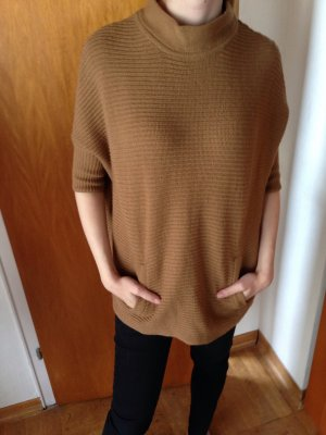 Pullover Strick Poncho XS 34 camel beige h&m