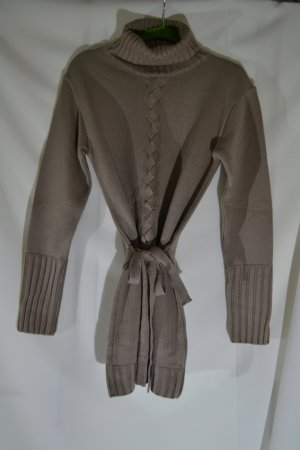 Pullover Strick Rollkragen mit Gürtel