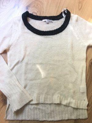 Pullover Strick schwarz weiß