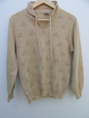 Vintage Pullover in pile sabbia