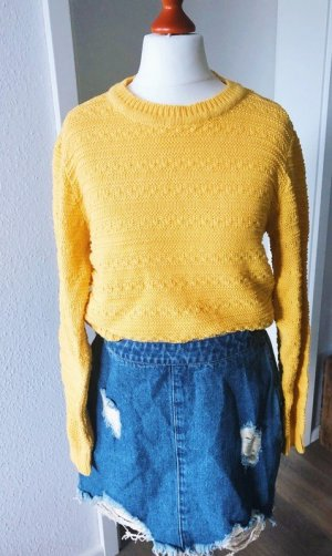 About You Knitted Sweater yellow mixture fibre