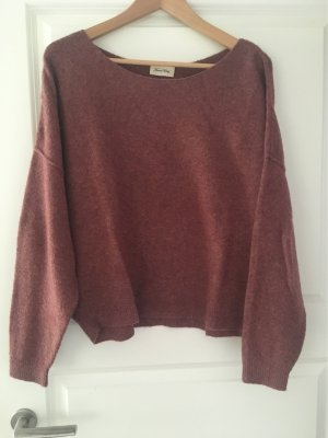 American Vintage Knitted Sweater bordeaux