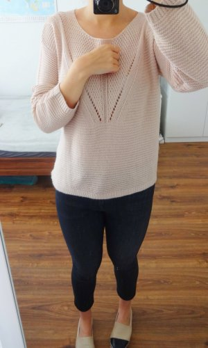 Pullover Strickpullover Nude Beige Rosa