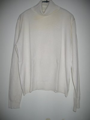 Pullover Strickpullover Rollkragenpullover Gr. 40 weiß MADELEINE