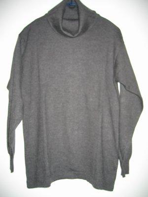 Pullover Strickpullover Rollkragenpullover Gr. 42 grau SETALANA