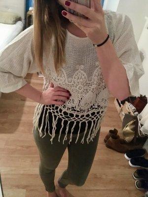 Pullover Strickpullover von Zara Gr.S Fransen Hippie Style!