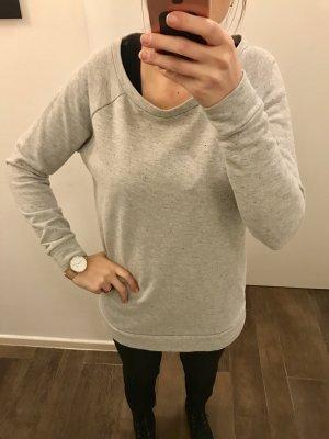 Pullover sweat Pullo langärmlig grau mit bunten Punkten Sweatshirt