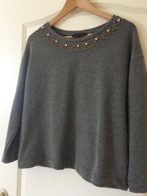 Pullover Sweater Grau M