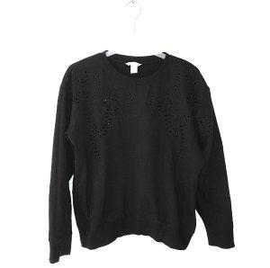 Pullover Sweater / H&M / L 42 / Lochstickerei Boho Blogger