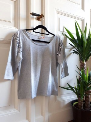 Only Short Sleeve Sweater light grey-silver-colored
