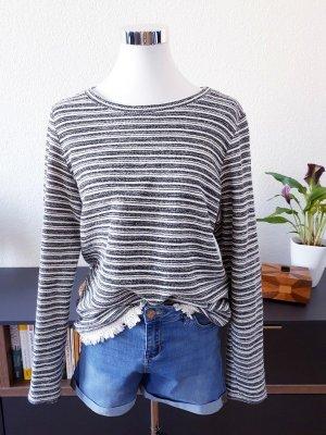 Esprit Sweater wit-donkergrijs