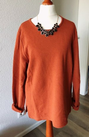 Pieces Oversized Sweater russet cotton