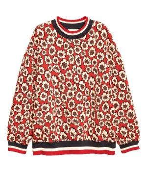 H&M Sweat Shirt red-black