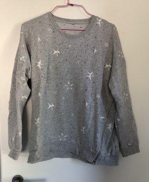 Suéter gris-blanco