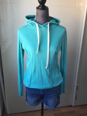 Pullover Sweatshirt Hoodie Türkis