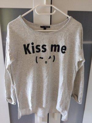 Pullover Sweatshirt mit Aufdruck Smiley japanisch kawaii