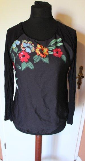 Pullover Sweatshirt mit Blumen Design chic