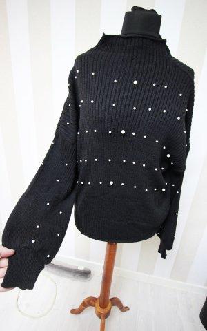 Pullover Sweatshirt mit Perlen