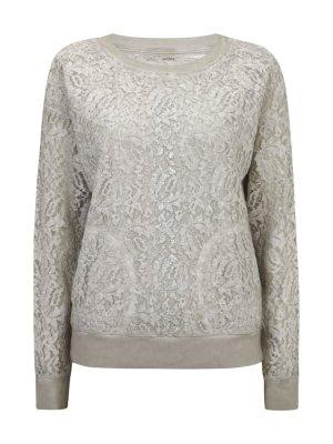 Pullover Sweatshirt mit Spitze von MARC CAIN Sports Gr. 36-38