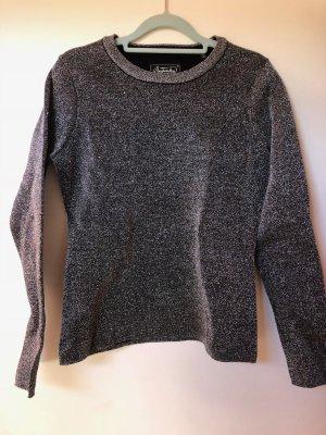 Pullover Sweatshirt Superdry Glitzer Silber