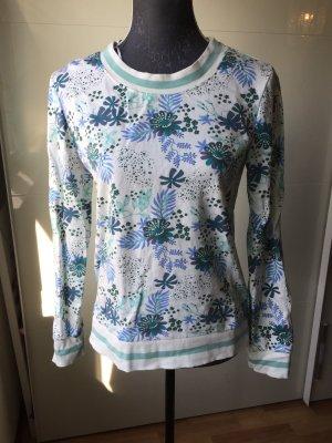 John Baner Sweat Shirt white-turquoise