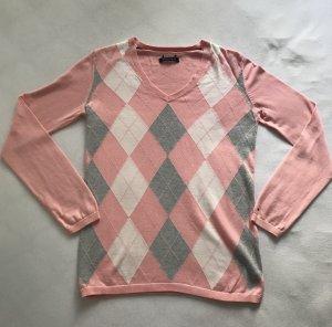 Pullover Tommy Hilfiger Rautenmuster Rosa / grau / weiß Gr. S/M