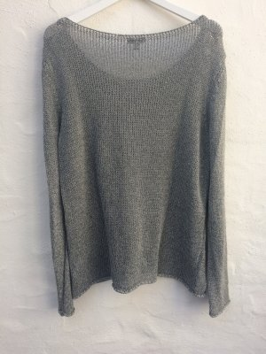 Pullover/Top-Set in schimmerndem Grau, Gr. 44, *Street One*