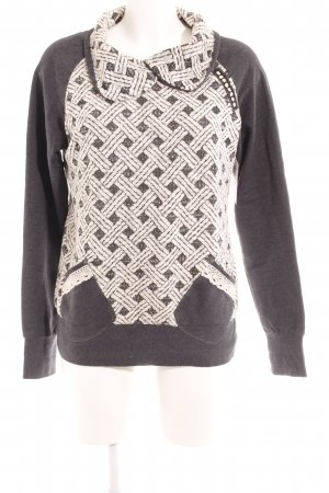 Pullover Twin Set dunkelgrau-wollweiß grafisches Muster Casual-Look