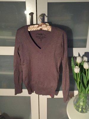 Pullover, V-Ausschnitt, edc by esprit