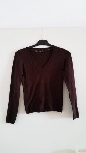 Zara Pull brun noir-brun rouge