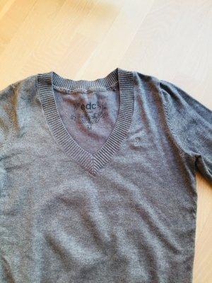 Pullover V-Ausschnitt grau edc