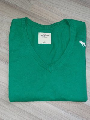 Pullover V-Ausschnitt Langarm Grün Gr.S Abercrombie & Fitch (NP: 74€)