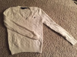 Pullover V-Ausschnitt mit Zopfmuster Ralph Lauren Sport