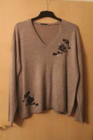 Pullover * V-Ausschnitt * Pailletten * Größe L * nie getragen * NEU *