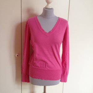 Pullover V Ausschnitt pink Basic