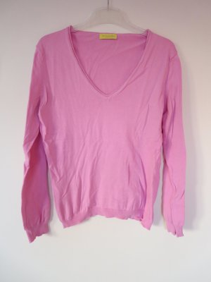 Witty Knitters V-Neck Sweater pink cotton