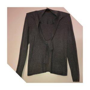 edc Jersey Twin-Set gris lana de angora