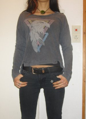 Pullover Vintage-Style mit Adlermotiv XS/S
