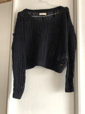Abercrombie & Fitch Oversized trui donkerblauw Katoen