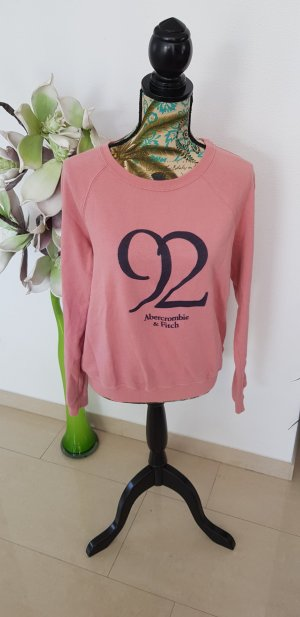Abercrombie & Fitch Sweat Shirt anthracite-dusky pink