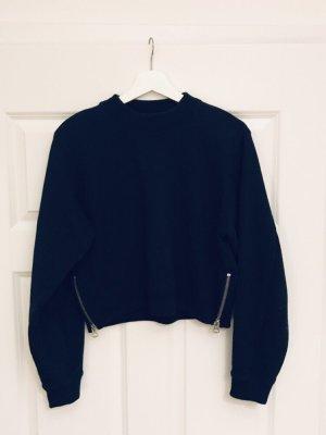 Acne Kraagloze sweater donkerblauw