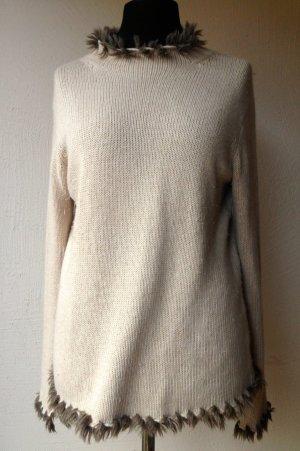 Alba Moda Wollen trui licht beige Gemengd weefsel