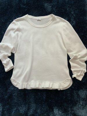 Alba Moda Kraagloze sweater wit Katoen