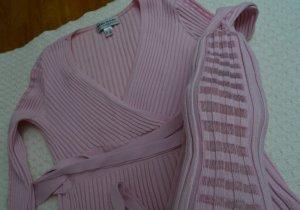 Pullover von Ashley Brooke pink V-Ausschnitt Gr. 36-38